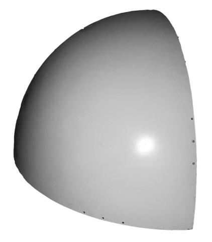 Semisphere, white, mat