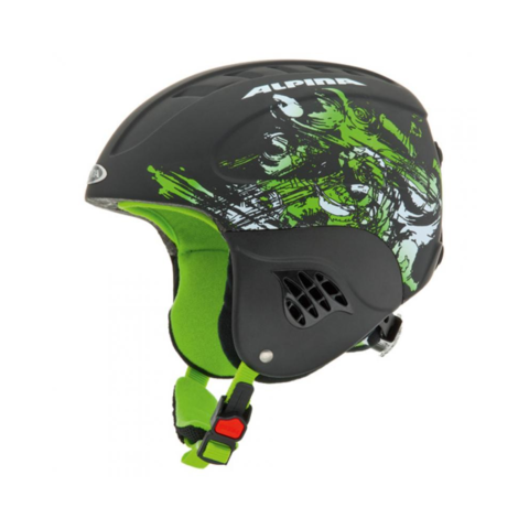 Картинка шлем горнолыжный Alpina CARAT black-green