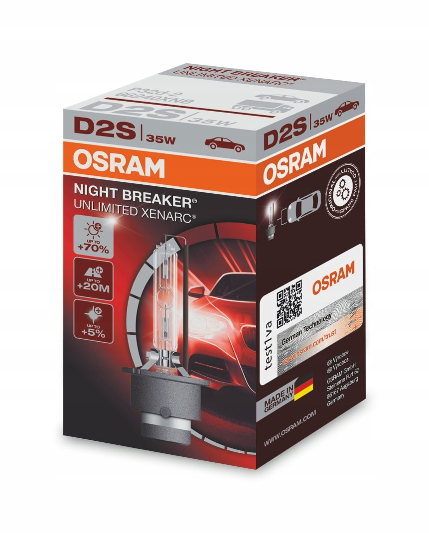 Ксеноновая лампа OSRAM D2S Xenarc NIGHT BREAKER UNLIMITED
