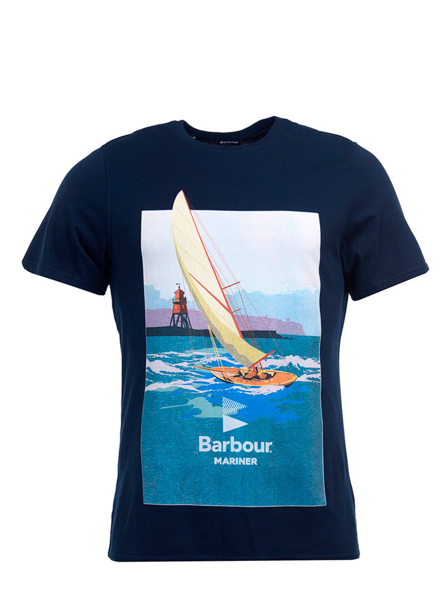 Barbour футболка Outboard Tee MTS0678/NY91 - Фото 1