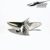 CNC propeller D-1442/ 3 blades Traxxas Spartan stainless steel
