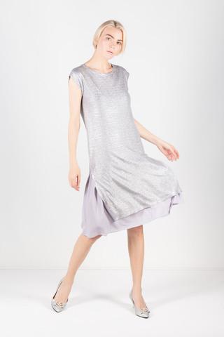Фото платье 2 в 1 из блестящей туники и нежного нижнего платья - Платье З337-144 (1)
