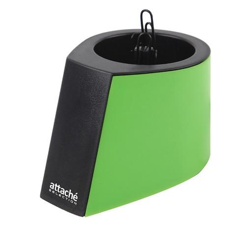 Скрепочница магнитная Attache Selection Color вертикальная с черными скрепками
