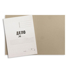 Папка-обложка без скоросшивателя Дело № немелованный картон А4 белая (360 г/кв.м, 10 штук в упаковке - арт. 874886)