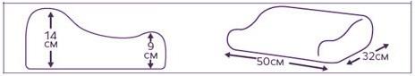 """Подушка ортопедическая под голову ТОП-""""ТРИВЕС"""" арт.ТОП-119  р.L с эффектом памяти (с выемкой под плечо)"""