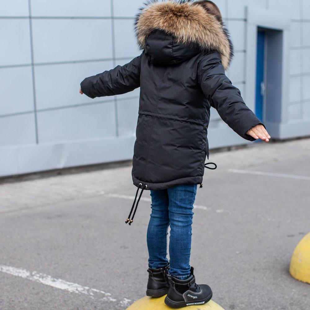 Зимняя детская парка с опушкой из натурального финского енота