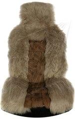 Накидка из натурального меха (Лиса + Овчина, цельная шкура, Австралия)