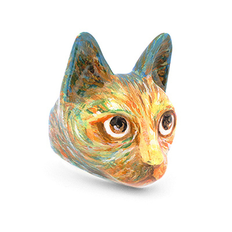 Кольцо Кошка Вангог