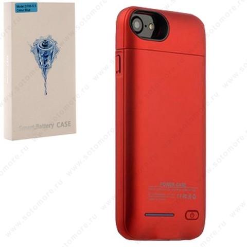 Аккумулятор чехол для Apple iPhone 8 Plus/ 7 Plus 3000 мАч 1.0A D706 красный