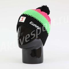 Шапка вязаная с помпоном Eisbar Star Neon Pompon SP 909