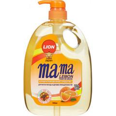 Средство для мытья посуды с антибактериальным эффектом Mama Lemon Tough on grease с ароматом апельсина 1 л
