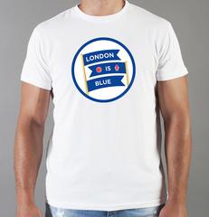 Футболка с принтом FC Chelsea (ФК Челси) белая 007