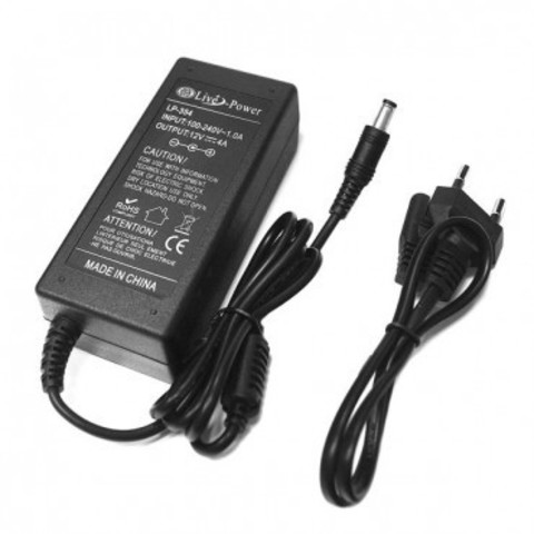 Блок питания 12VDC 4A 2.1/2.5 5.5 мм
