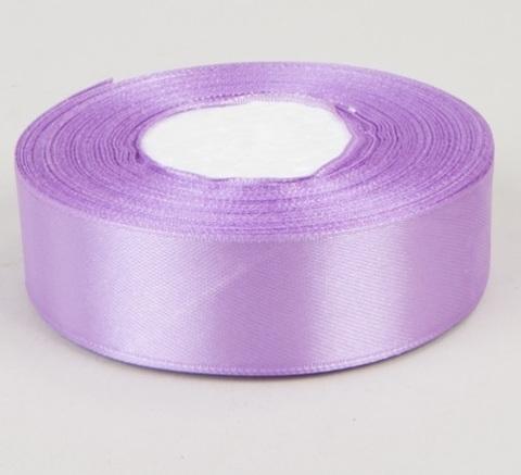 Лента атласная (размер 25 мм х 30 м) Цвет: сиреневая