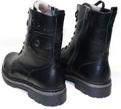 Черные зимние ботинки женские Vivo Antistres Lena 603