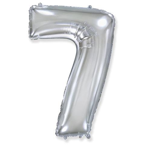 Цифры Серебро, 102 см
