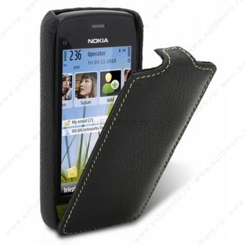 Чехол-флип Melkco для Nokia C5-03 Leather Case Jacka Type (Black LC)