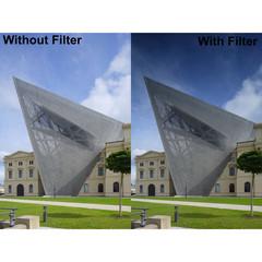 Градиентный фильтр Kenko R-Half ND4 Filter на 58mm