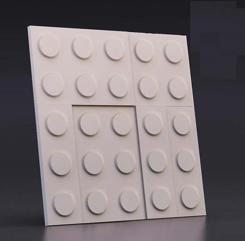 Декоративная гипсовая 3D панель ЛЕГО