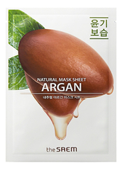 Тканевая маска с экстрактом арганы, THE SAEM, Natural Argan Mask Sheet 21мл