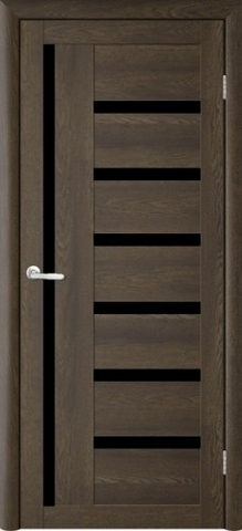 Дверь TrendDoors TDT-3, стекло чёрный акрилат, цвет дуб оксфорд, остекленная