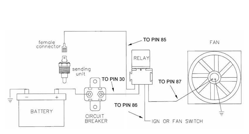 Схема подключения дополнительного вентилятора автомобиля