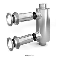 Отопитель натрубный-1 TMF Ø115, 1/0,5 мм, 1 м , нерж/нерж
