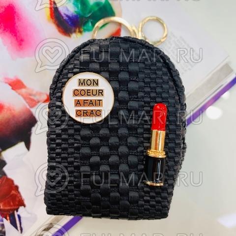 Ключница-брелок-кошелек для мелочи Парижанка (цвет: Чёрный)