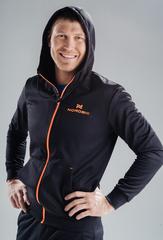 Костюм спортивный Nordski Zip Hood Cuffed Black-Orange 2019 мужской