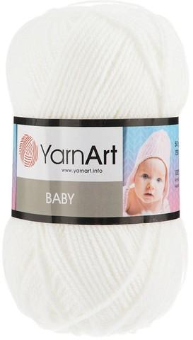 Пряжа YARNART BABY № 501 белый