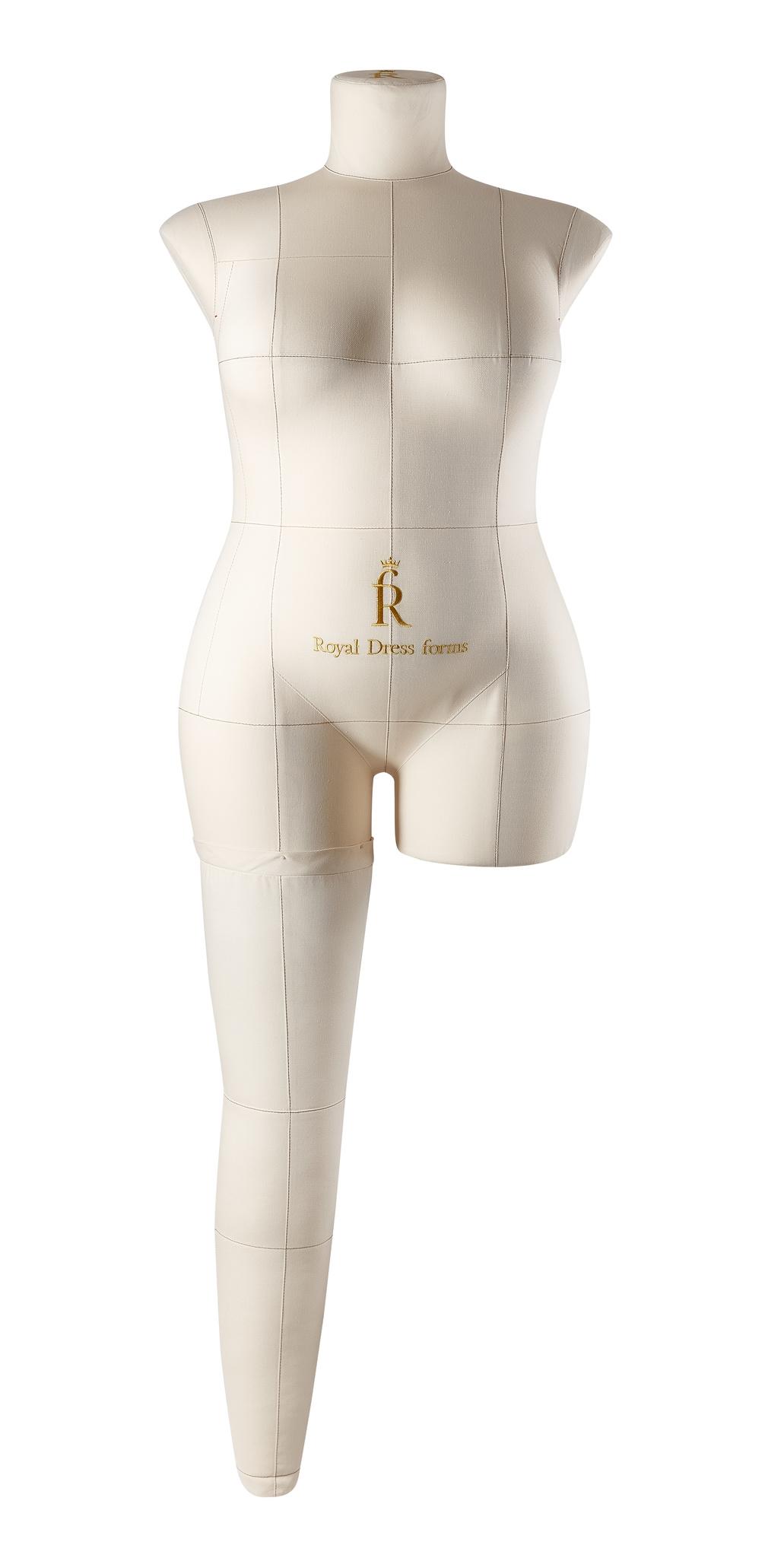 Нога бежевая для манекена Моника, 54 размер
