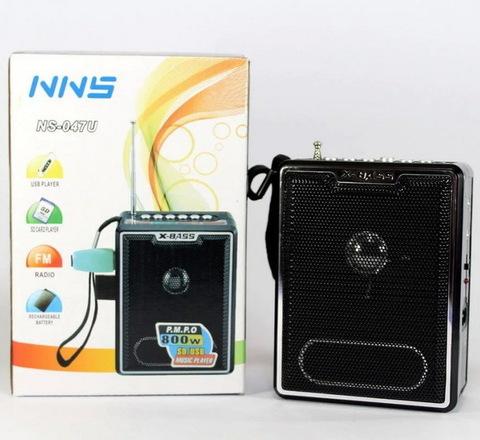 Радио NNS NS-047U встроенный аккумулятор/4xAA (FM/USB/SD/AUX)