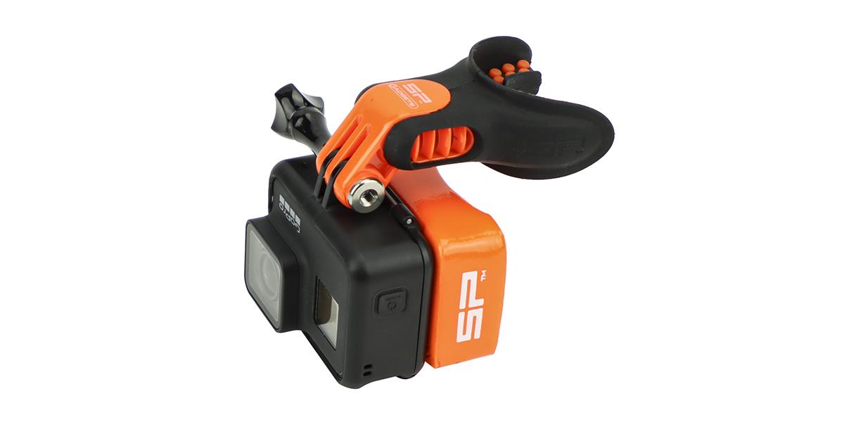 Крепление-капа SP Mouth Mount с камерой вид сбоку