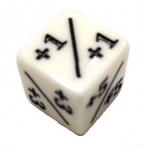 Positive/Negative D6 Dice 16 mm Белые