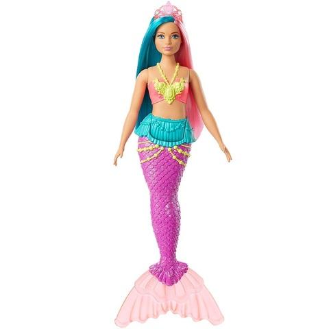 Барби Дримтопия Русалка с зелеными и розовыми волосами