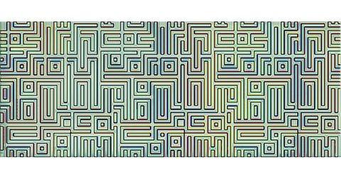 Декор AZORI Nuvola Verde Labirint 505x201