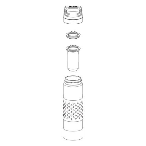 Термобутылка Sigg H&C Glass WMB Midnight (0,4 литра), красная