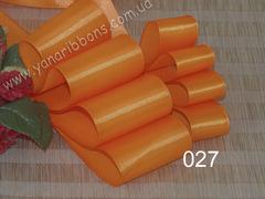Лента атласная шириной 5см оранжевая - 027