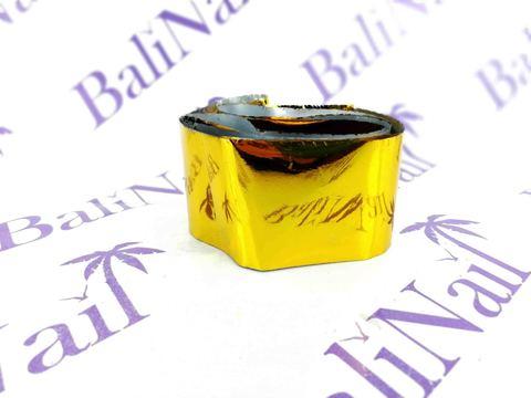 Фольга для дизайна ногтей, переводная (120 м) золото