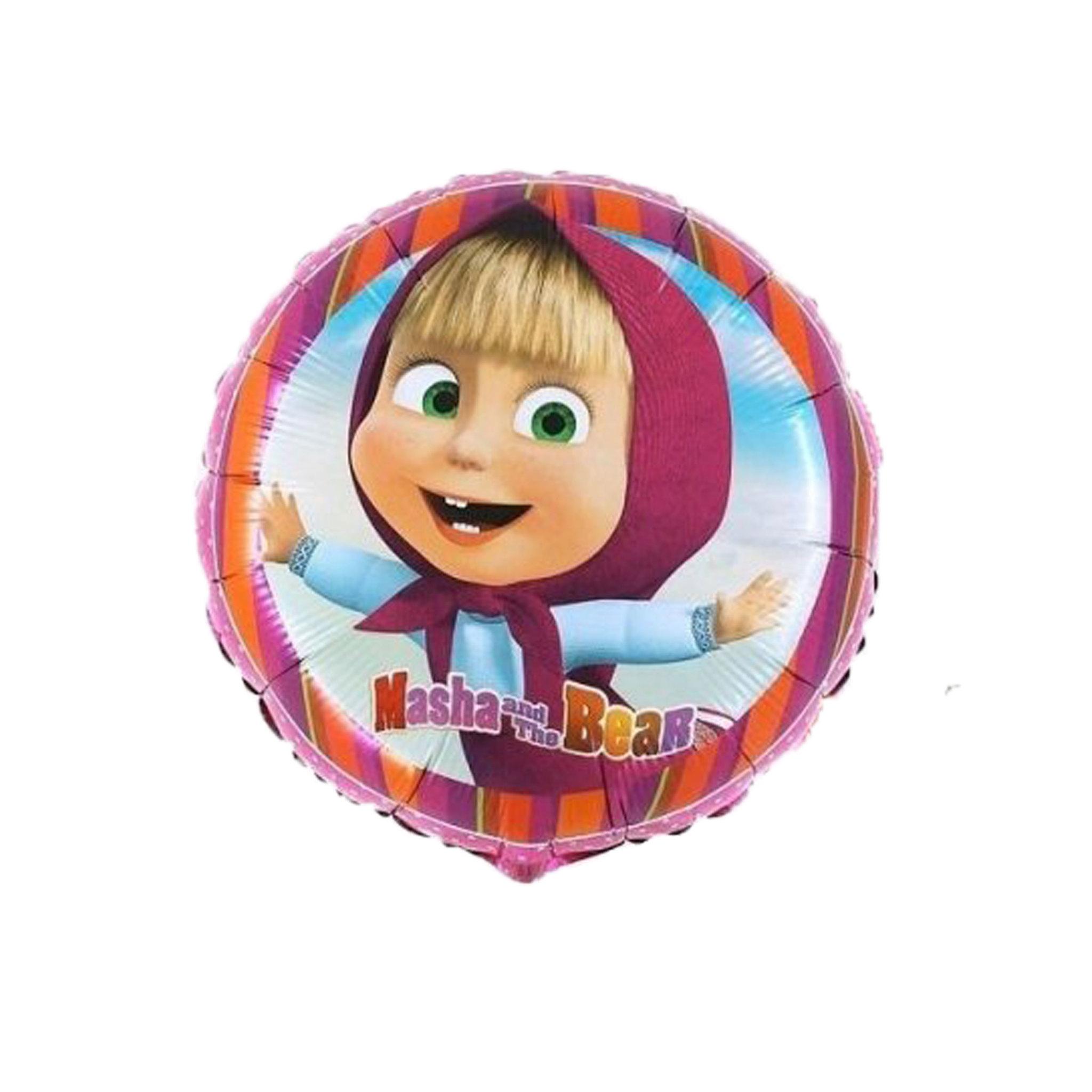 Воздушные шарики Маша и Медведь Фольгированный шар круг Маша и Медведь d6f8574203a5c4702ca35fcfa6d79a79.jpg