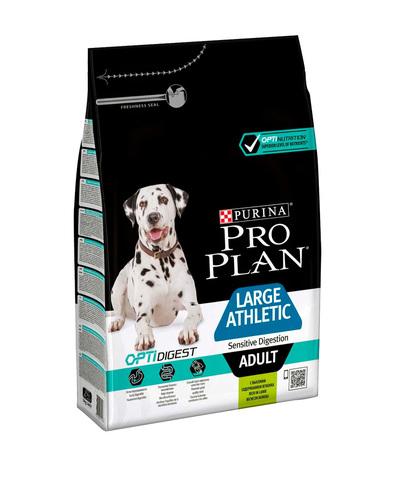Pro Plan сухой корм для взрослых крупных атлетич пород с чувствительным пищеварением (ягненок) 3 кг