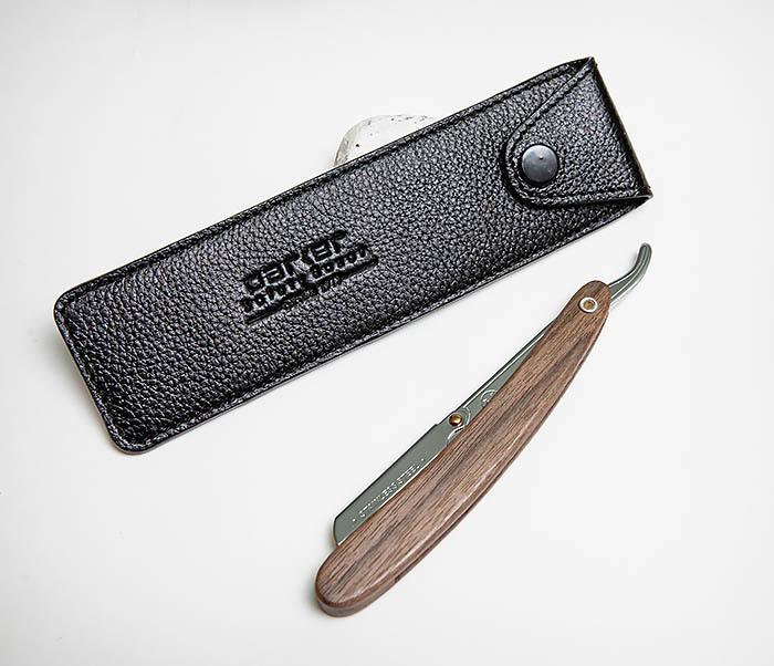 RAZ501-1 Черный кожаный чехол для опасной бритвы «PARKER»