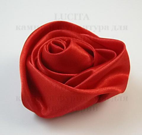 Роза атласная красная 50 мм ()
