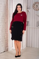 Риана. Красивое платье pluse size. Бордо