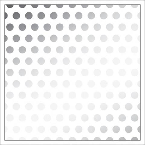 Веллум (калька)  30 х30 см -DIY Shop 3 Vellum -Silver Foil Dots