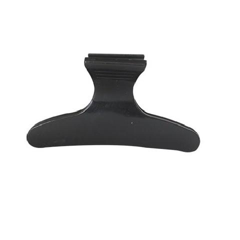 Зажимы черные для волос Бабочка 60 мм, 1 шт