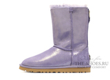 UGG SHORT CLASSIC ZIP METALLIC PURPPLE