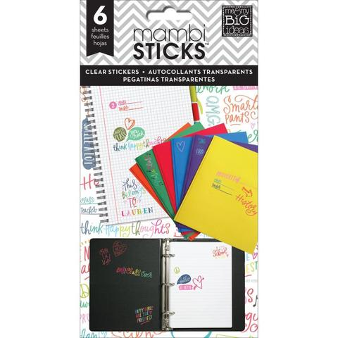 Стикеры  Me & My Big Ideas Pocket Pages Clear Stickers - School Saying - Multi