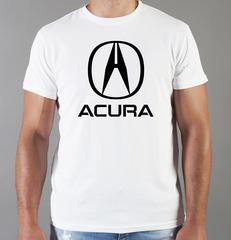 Футболка с принтом Акура (Acura) белая 004
