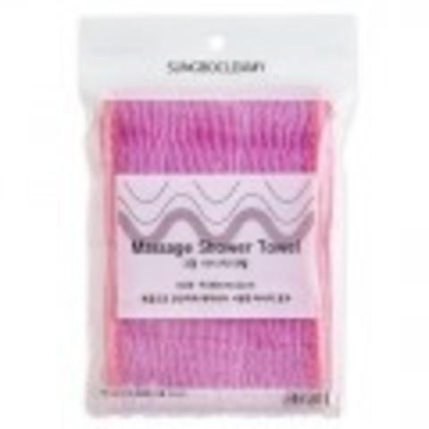 SUNG BO CLEAMY CLEAN&BEAUTY Мочалка для душа (11х100) Massage Shower Towel